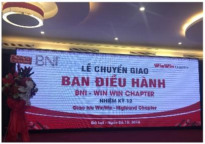 Lễ chuyển giao BĐH nhiệm kỳ 12 của Win Win Chapter thành công ngoài mong đợi