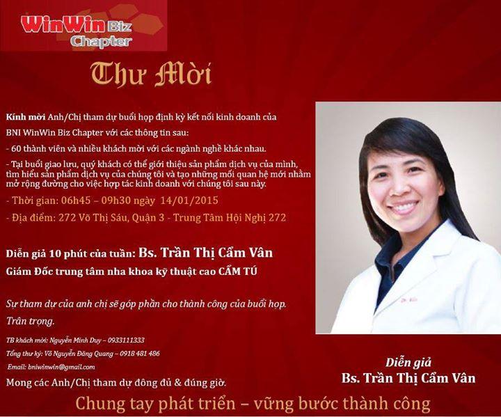 Diễn giả Bác sĩ Cảm Vân (2)
