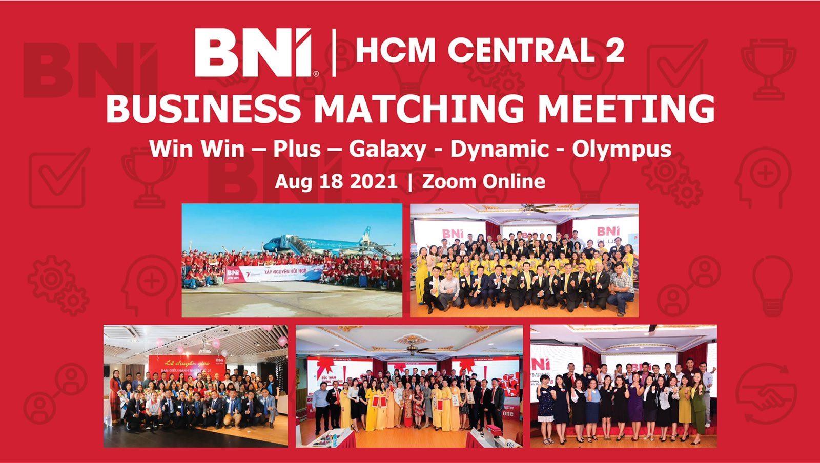 Kết Nối Kinh Doanh – Business Matching Meeting 5 Chapter Ngày 18/08/2021